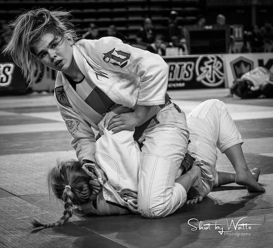 Nicole Evangelista competing at IBJJF Pan Ams in 2017